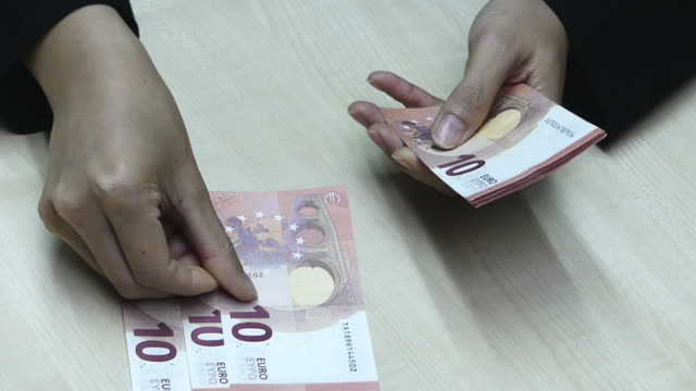 Counting Euro Money video
