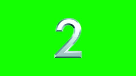 vidéos et rushes de calcul des numéros métalliques sur fond vert - nombre
