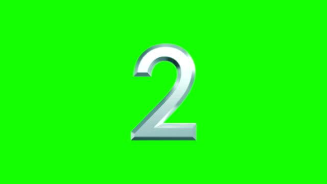 calcolo di numeri metallici su sfondo verde - numero video stock e b–roll