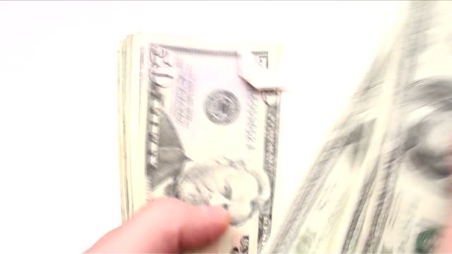 Counting money fast motion - HD video