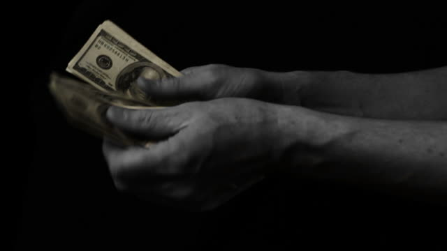 Counting Money - Slow Motion video