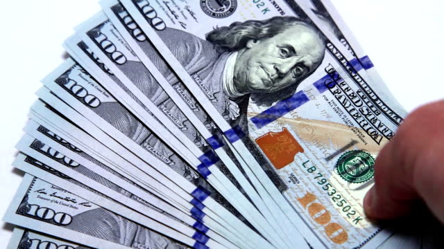 считать денег - dollar bill стоковые видео и кадры b-roll