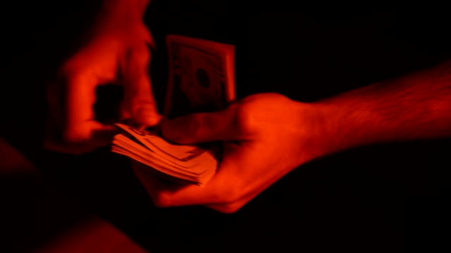 counting money - avidità video stock e b–roll
