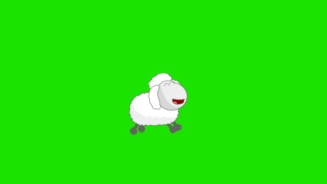 counting sheep on a green screen background - sheep stock videos and b-roll footage