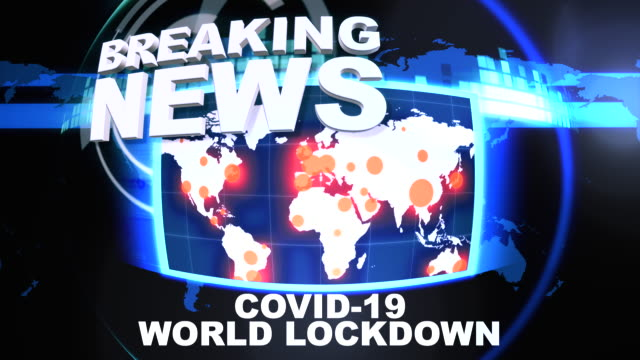 Countries Borders Closed Because Of COVID-19 News Bulletin Concept. World Lockdown
