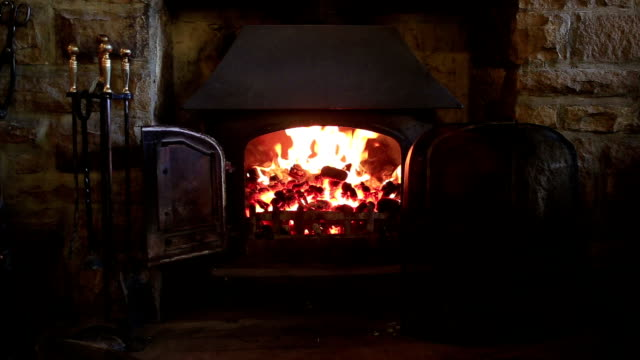 Country fireplace video