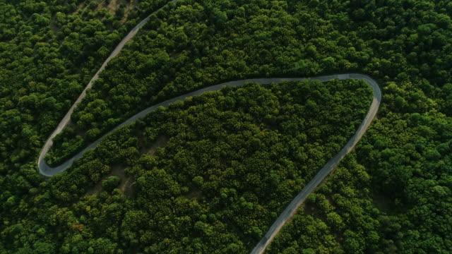 山の田舎道カーブ - 曲線点の映像素材/bロール