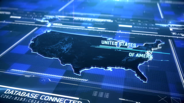 USA country state border 3D modern map with a name, global region outline USA country state border 3D modern map with a name, global region outline california map stock videos & royalty-free footage