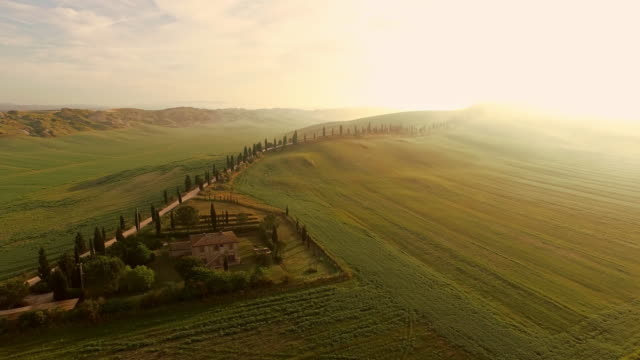 AERIAL Countryside house in Tuscany