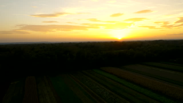 AERIAL Countryside In The Sunset video