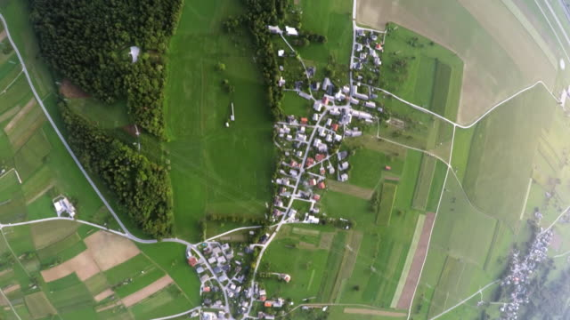 POV Countryside landscape viewed from the sailplane