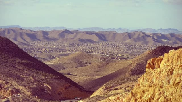 Countryside Mountain Landscape Of Tunisia Semi Desert
