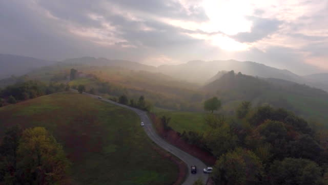Countryside Road Aerial View video