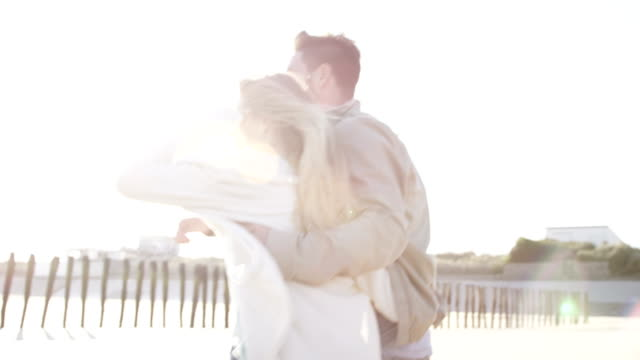 Couple at beach Selected Takes - Shot on RED Epic normandy stock videos & royalty-free footage