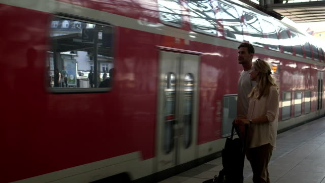 Couple at station video