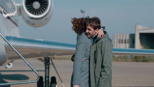 Couple at the airport video