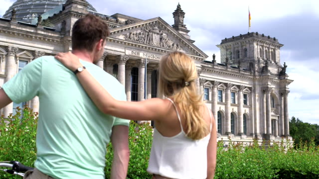 Couple at The Reichstag building video