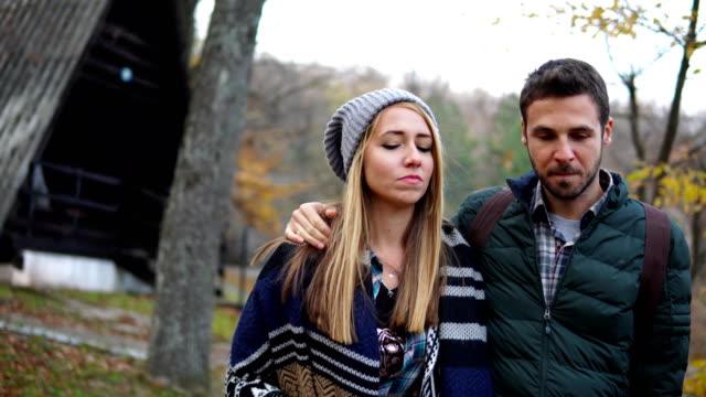couple, autumn, nature