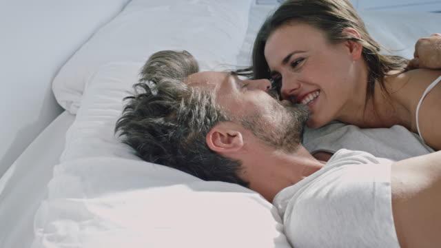Couple awaking