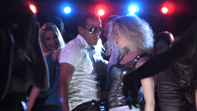 HD SLOW MOTION: Couple Dancing In The Nightclub video