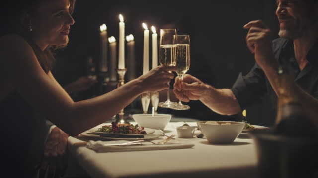 couple drinking champagne - date night stock videos & royalty-free footage