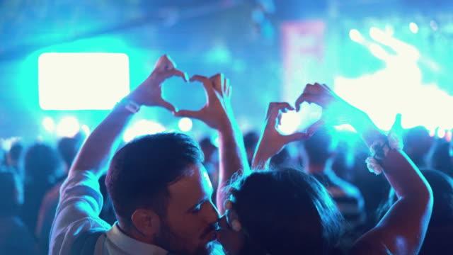 Couple enjoying a concert. video