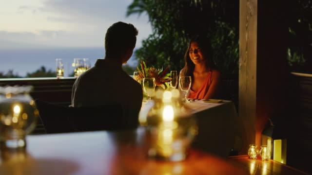 Couple Enjoying Romantic Dinner