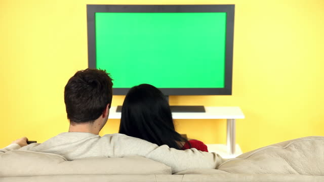 Couple Gathering To Watch Television video