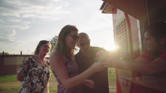 Couple Gets Shave Ice