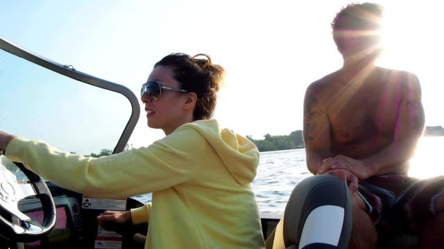 Couple Having Fun On Lake video