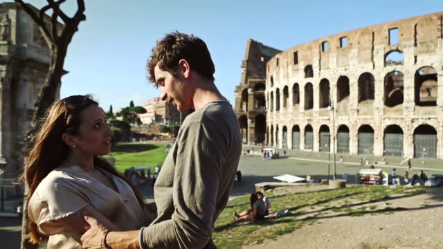 Couple hug in front of the Coliseum video
