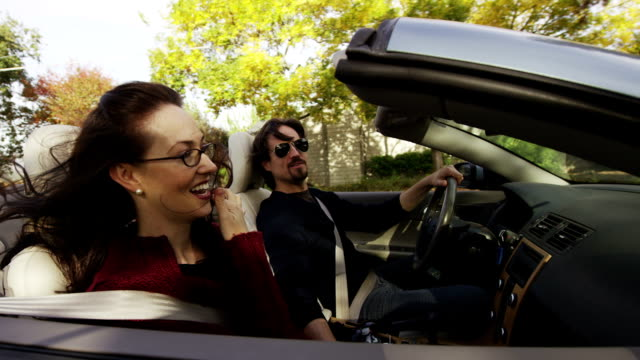 Couple in Convertible in Wine Country video