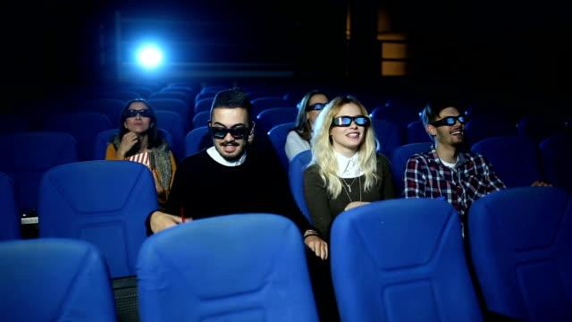 Couple in love in cinema video