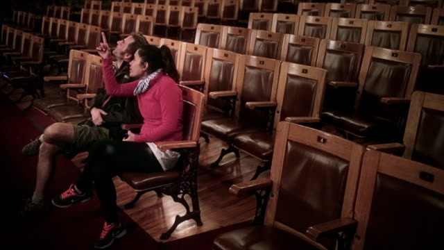 Couple in old theater video