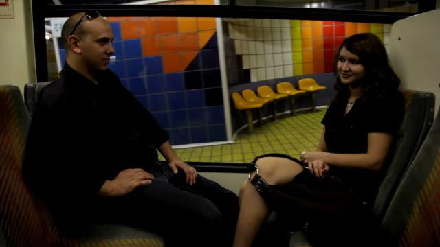 Couple in train video