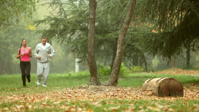Couple joging together video