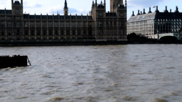Couple looking at city guide, pointing to Big Ben, London video