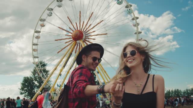 Couple on festival