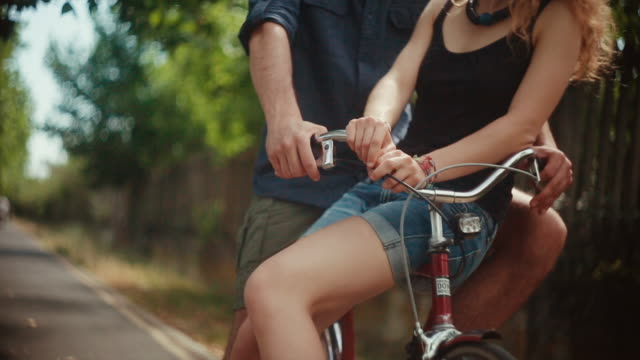 Couple on the bicycle video portrait