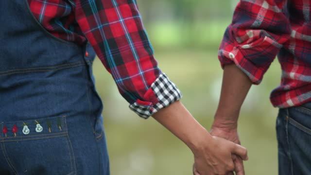 couple senior hand holding together , love eternity