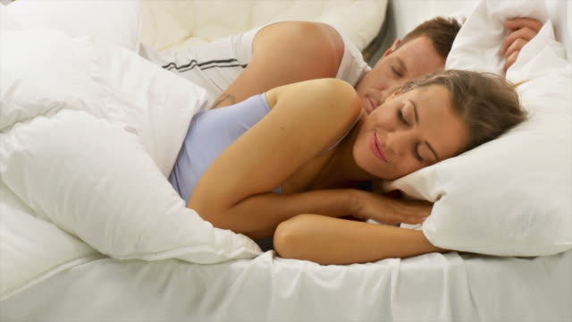 HD DOLLY: Couple Sleeping video
