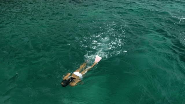 Couple Snorkelling in Warm Ocean video