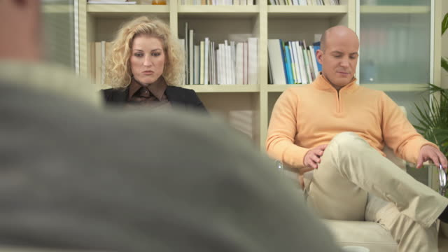 HD DOLLY: Couple Talking to Counselor video