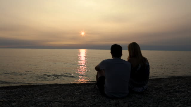Couple Together on Shore of Lake Erie