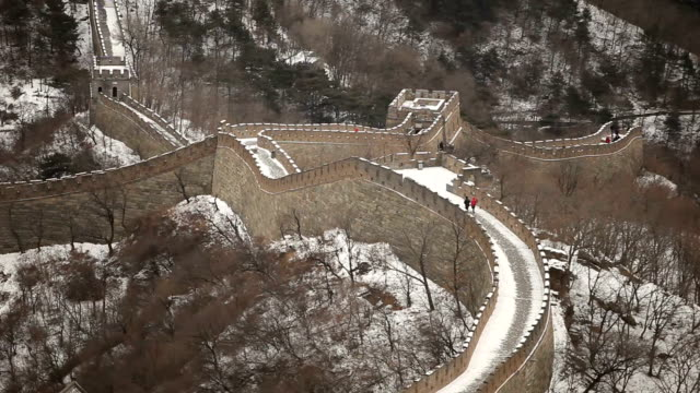 Couple Walking on Top of Great Wall of China video
