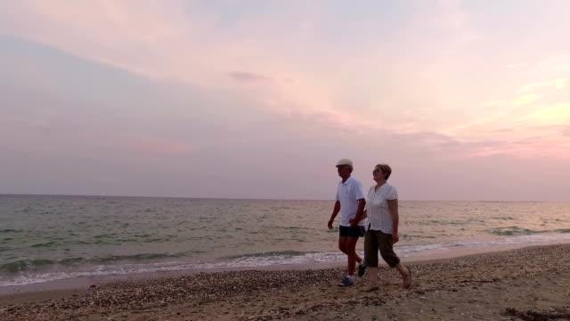Couple walking. Slow motion video
