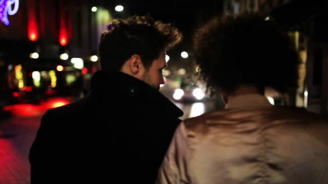 Couple Walking Through the City video