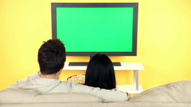 Couple Watching Television video