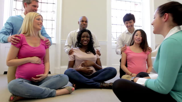 Couples Attending Ante Natal Class Together video