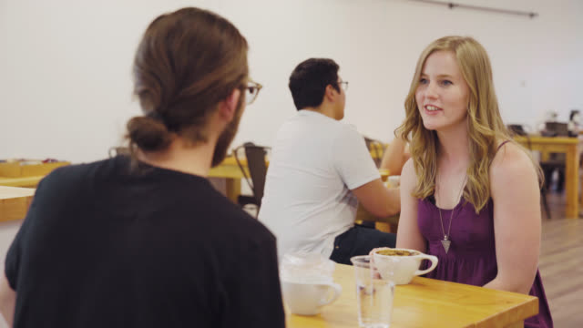 Couples Talk and Drink Coffee video